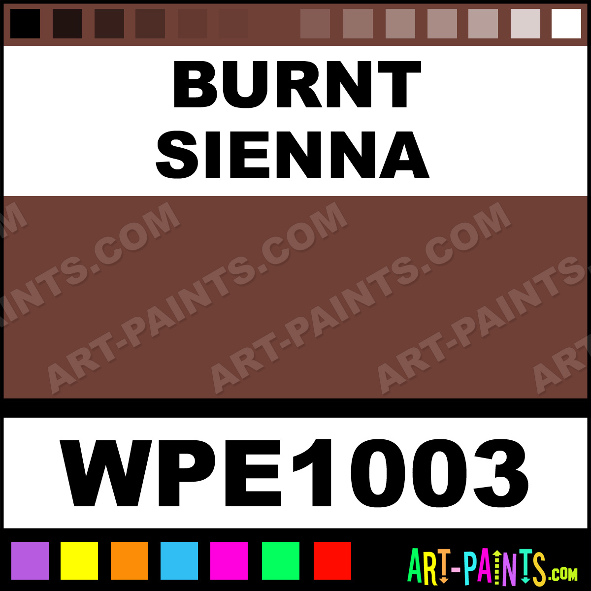 Burnt Sienna Permalba Oil Paints Wpe1003 Burnt Sienna