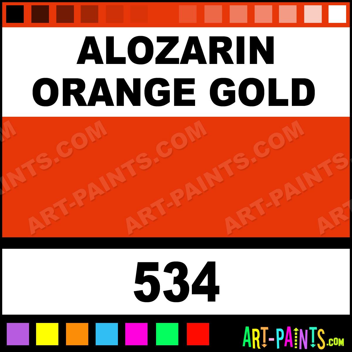 Alozarin Orange Gold Artist Oil Paints 534 Alozarin