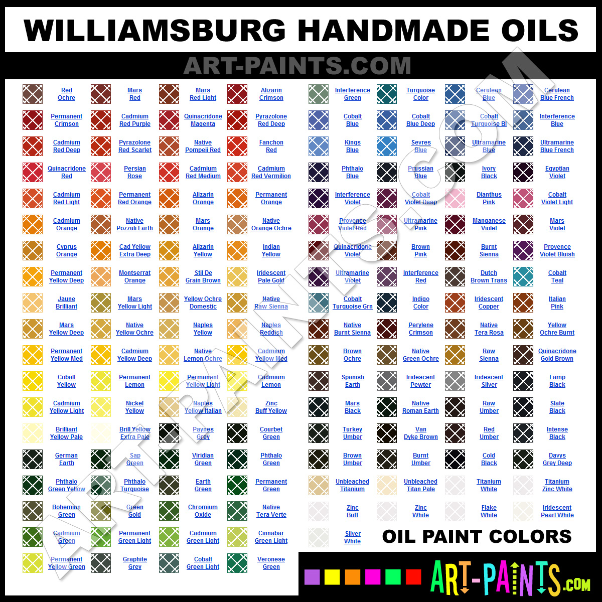 Williamsburg Handmade Oil Paint Colors Williamsburg Handmade Paint Colors Handmade Color