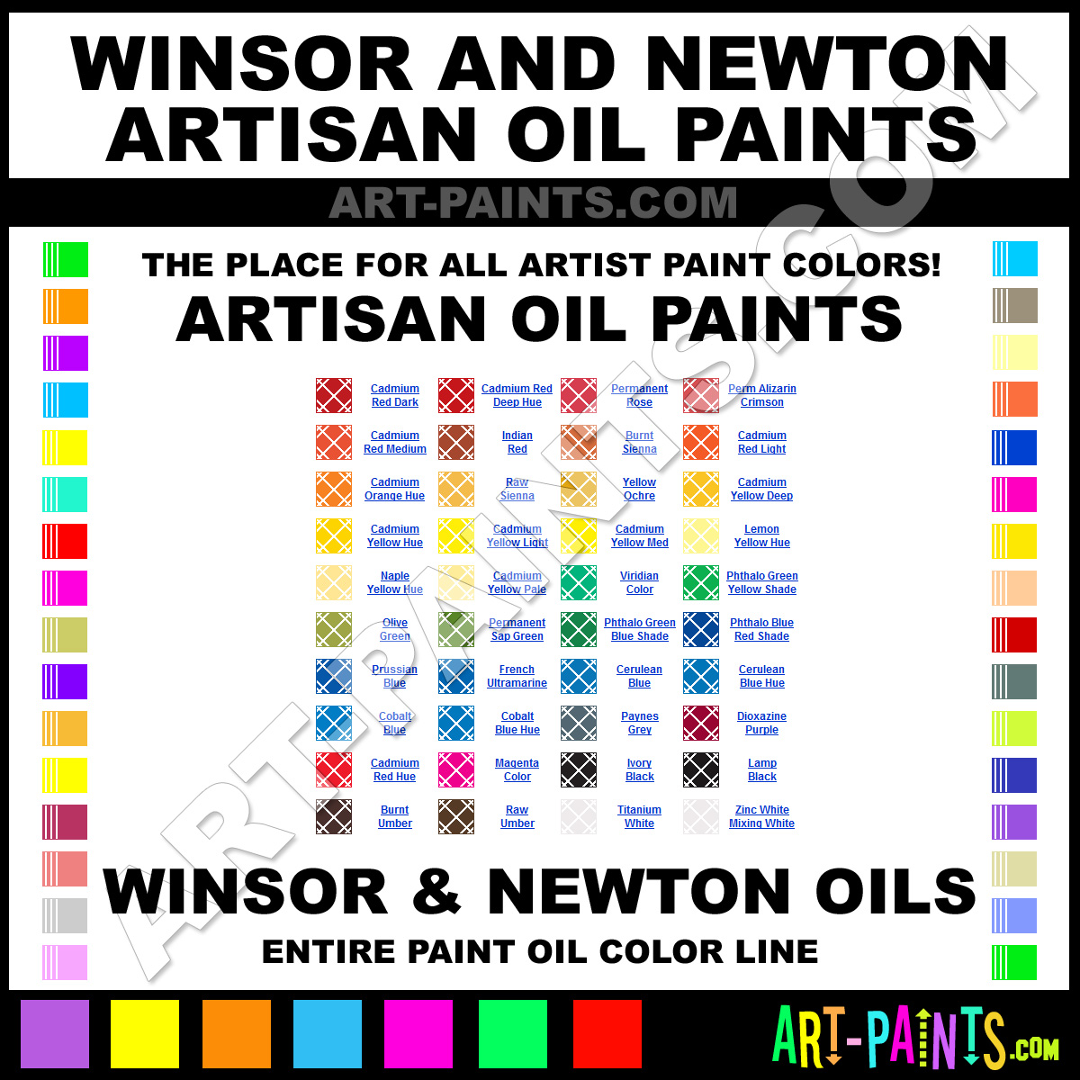 Winsor And Newton Artisan Oil Paint Colors Winsor And