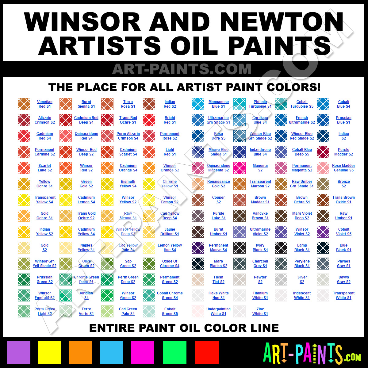 Winsor And Newton Artists Oil Paint Colors Winsor And