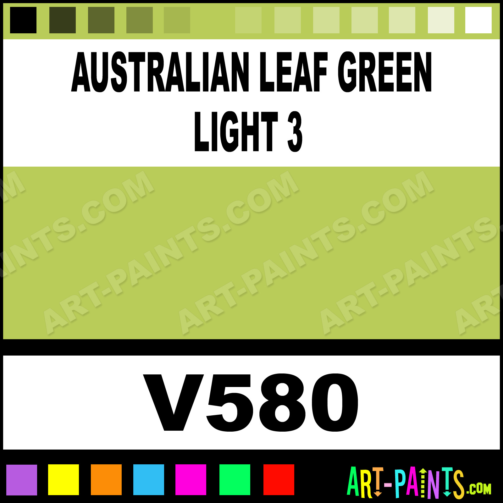Australian leaf green light 3 soft pastel paints v580 Light pastel green paint
