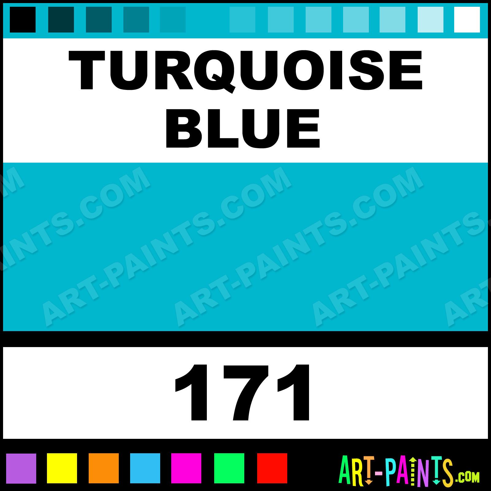 turquoise blue neopastel 48 set pastel paints - 171 - turquoise