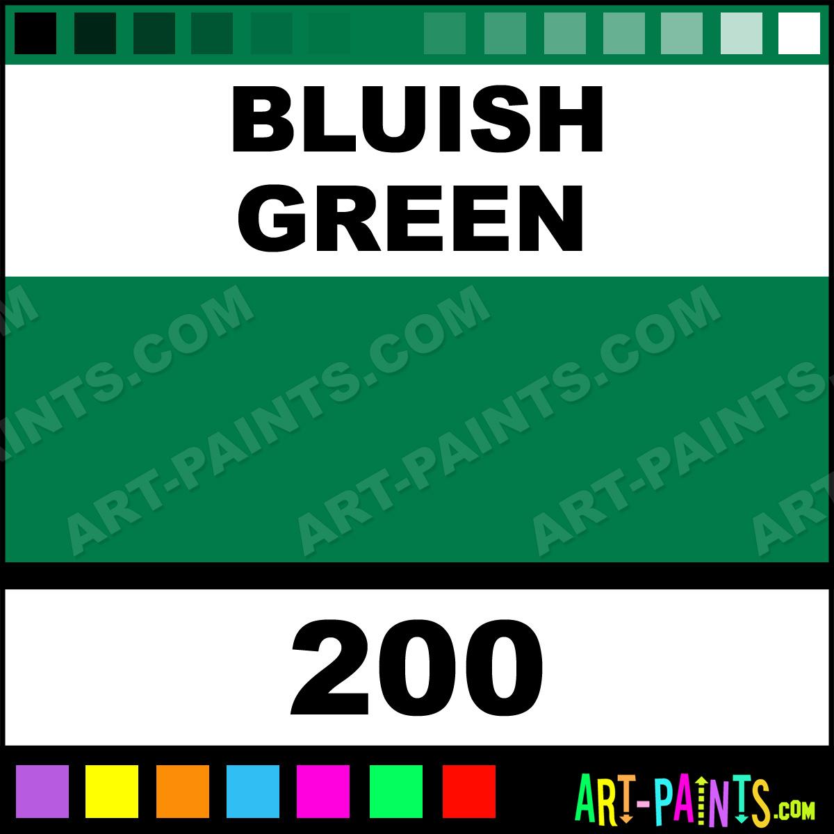 Bluish Green Color Bluish Green