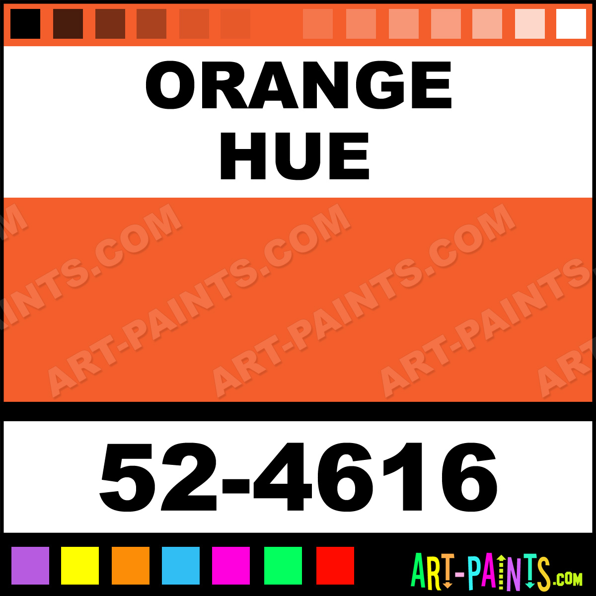 Orange Oil Set Pastel Paints 52 4616 Orange Paint