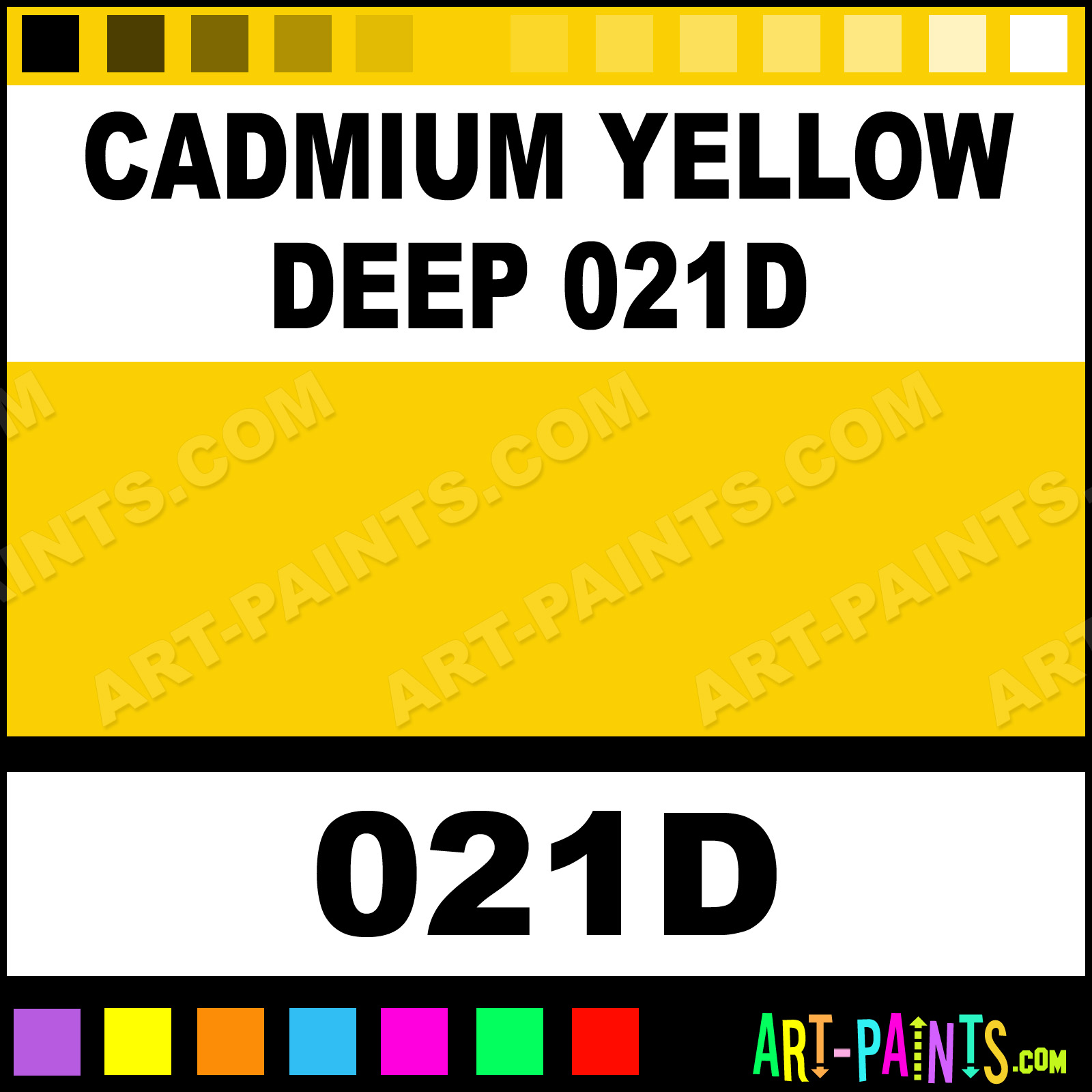 Cadmium Yellow Deep 021d Soft Form Pastel Paints 021d