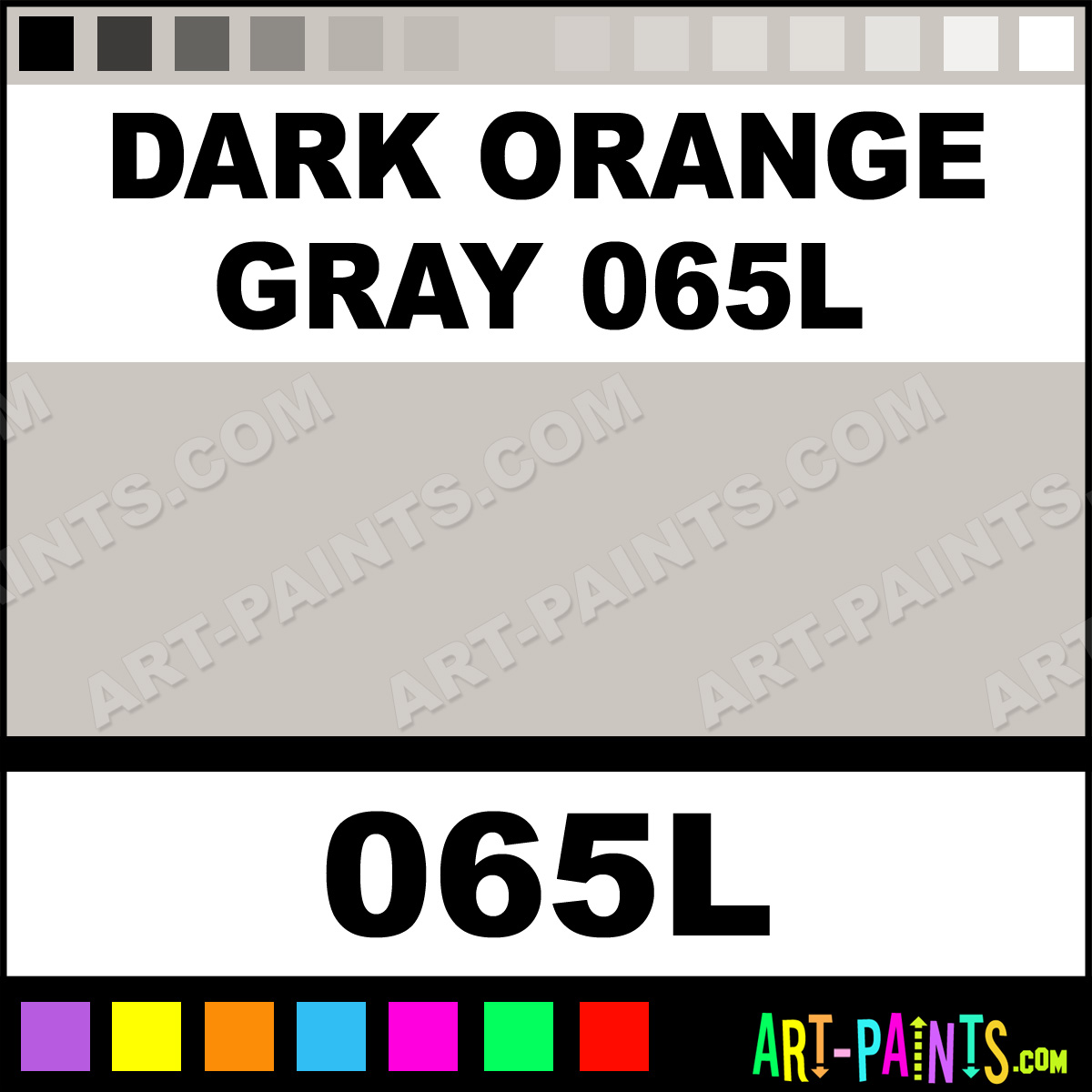 Dark Orange Gray 065l Soft Form Pastel Paints 065l