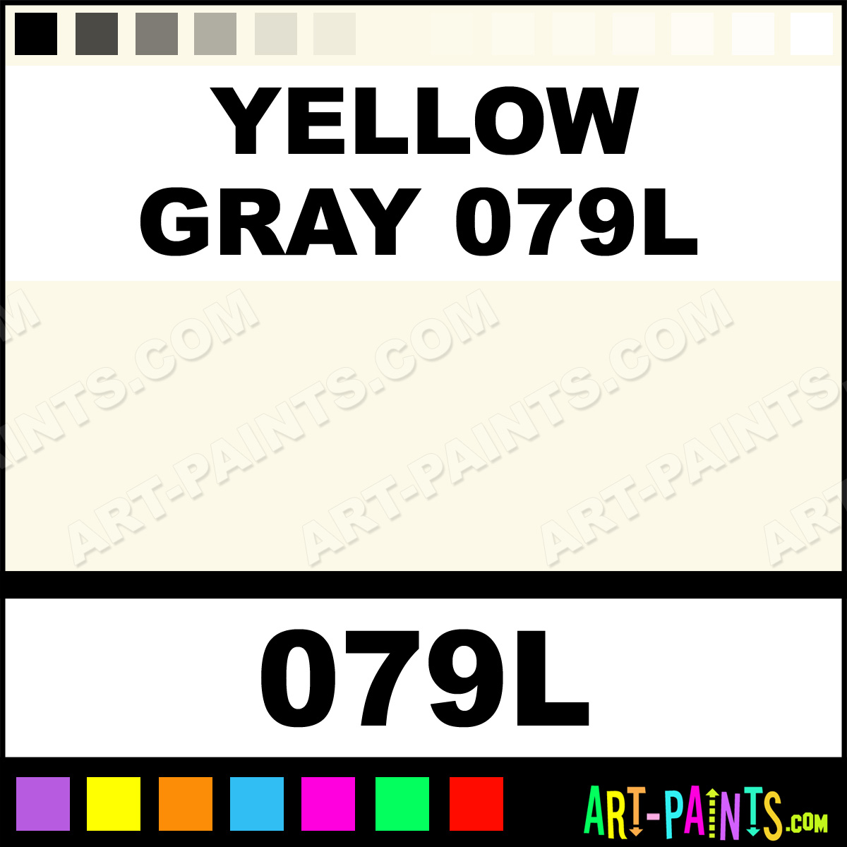 Yellow gray 079l soft form pastel paints 079l yellow for Yellow and gray paint