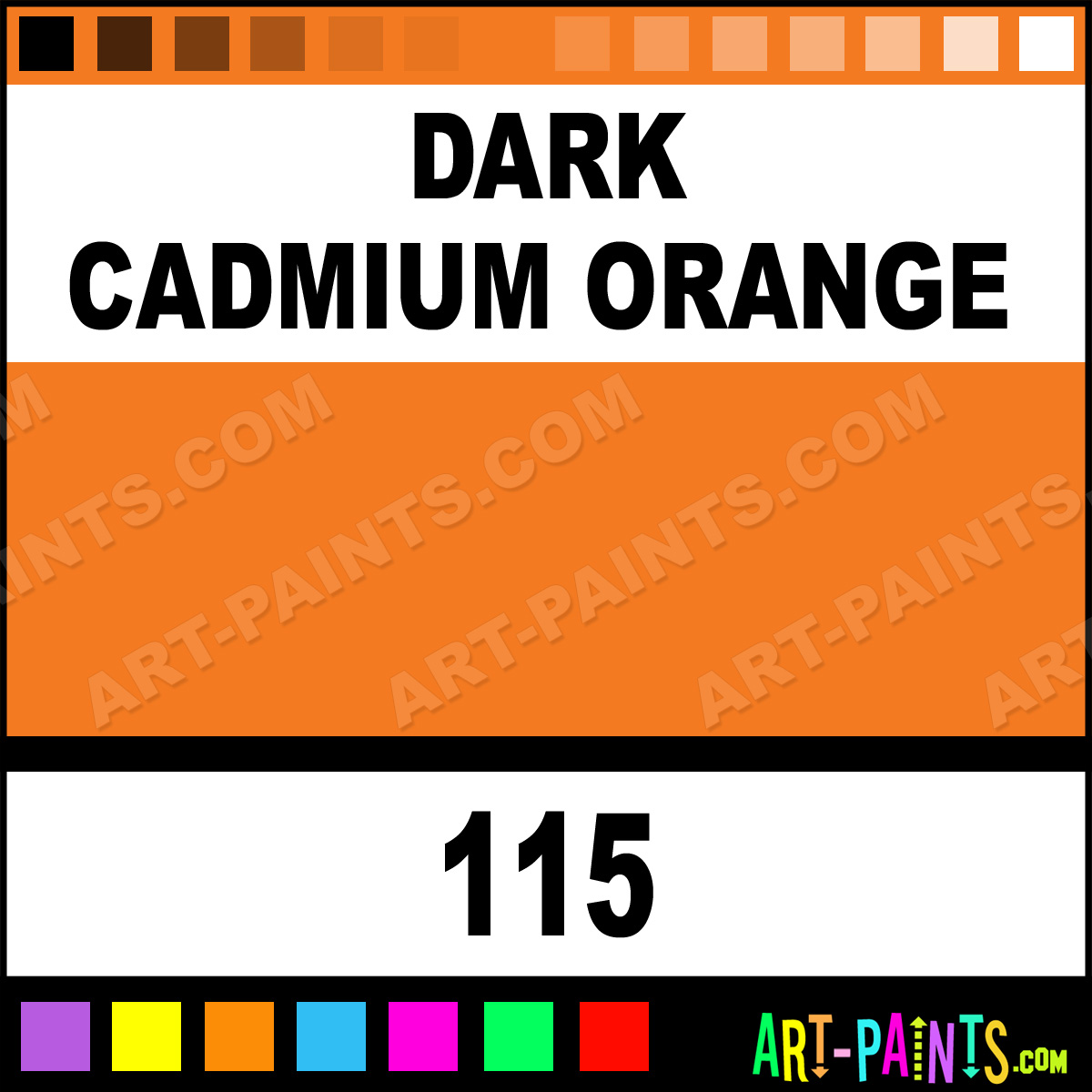 Dark Cadmium Orange Polychromos Pastel Paints 115 Dark