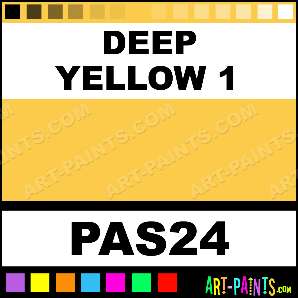 Deep Yellow 1 Artist Soft 24 Pastel Paints Pas24 Deep