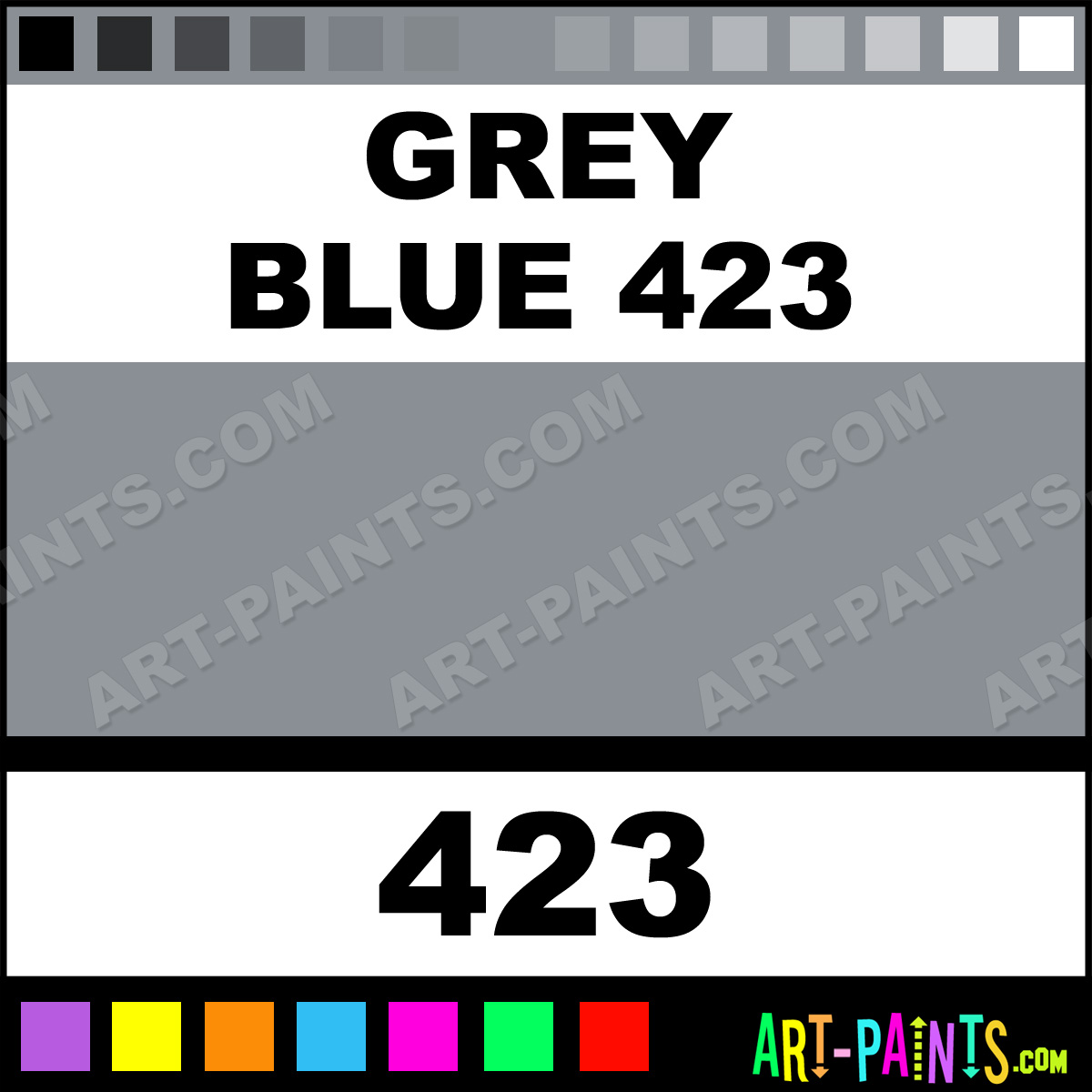 Grey Blue 423 Paint ...