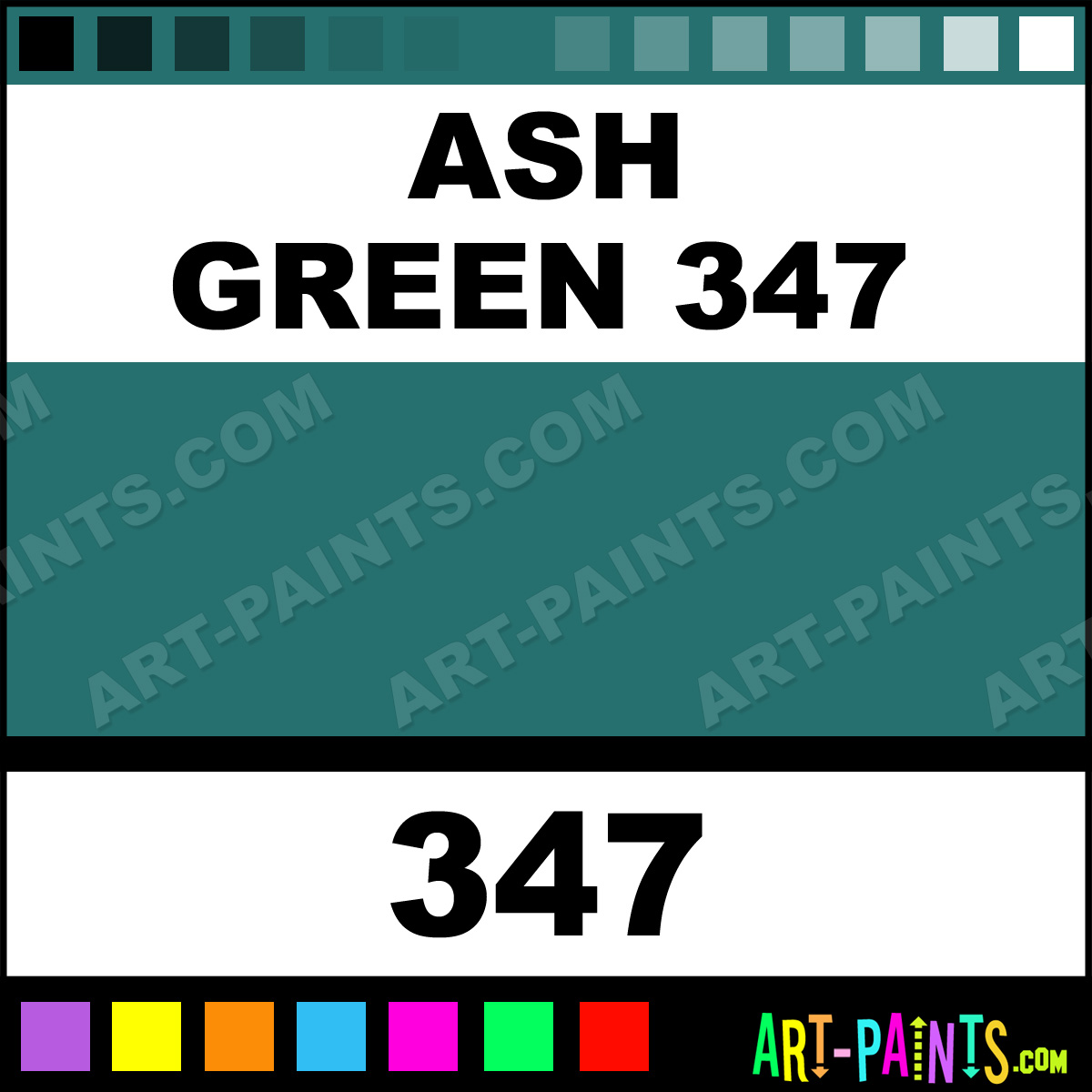 Ash green flower and fruit pastel paints