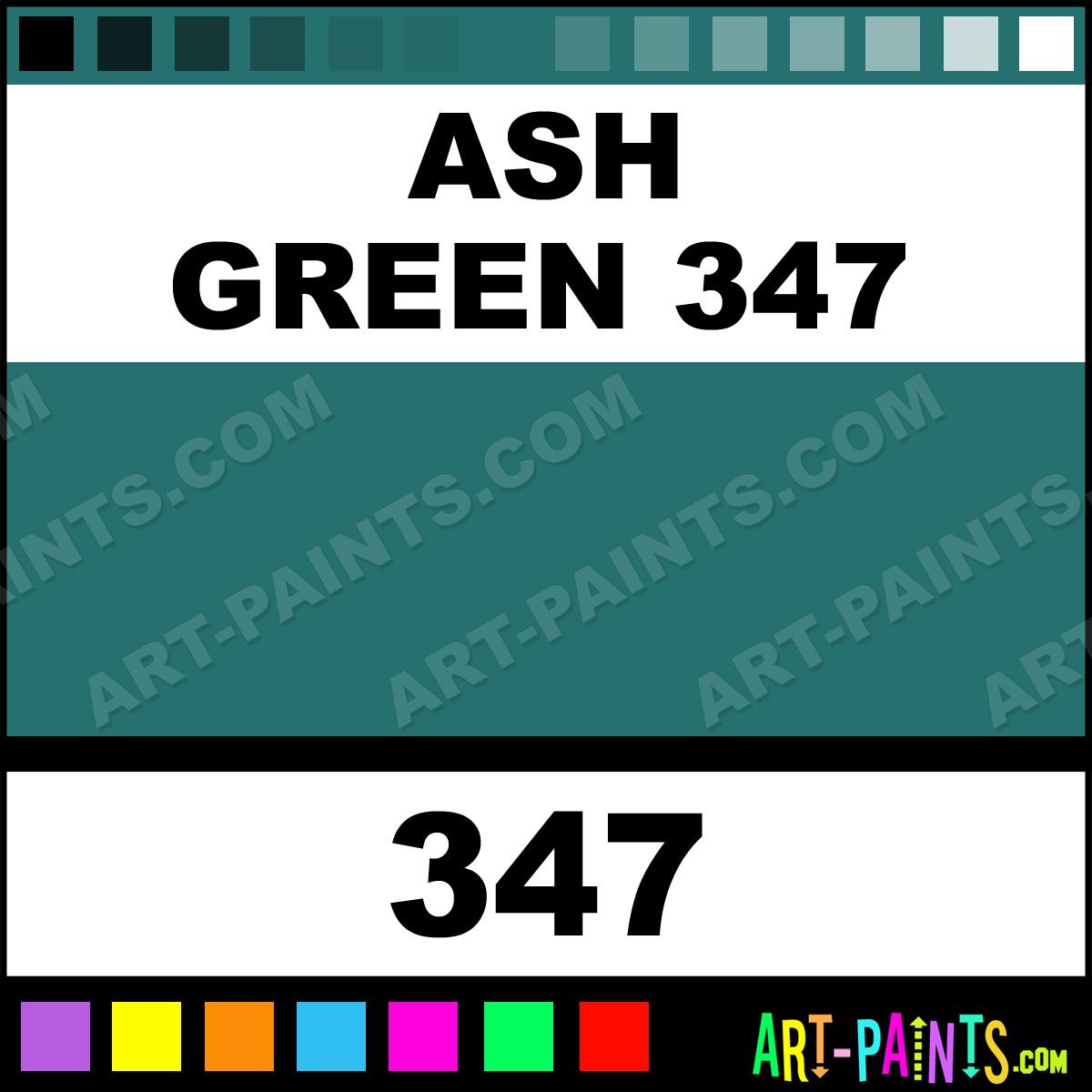 Ash Green Paint ~ Ash green flower and fruit pastel paints