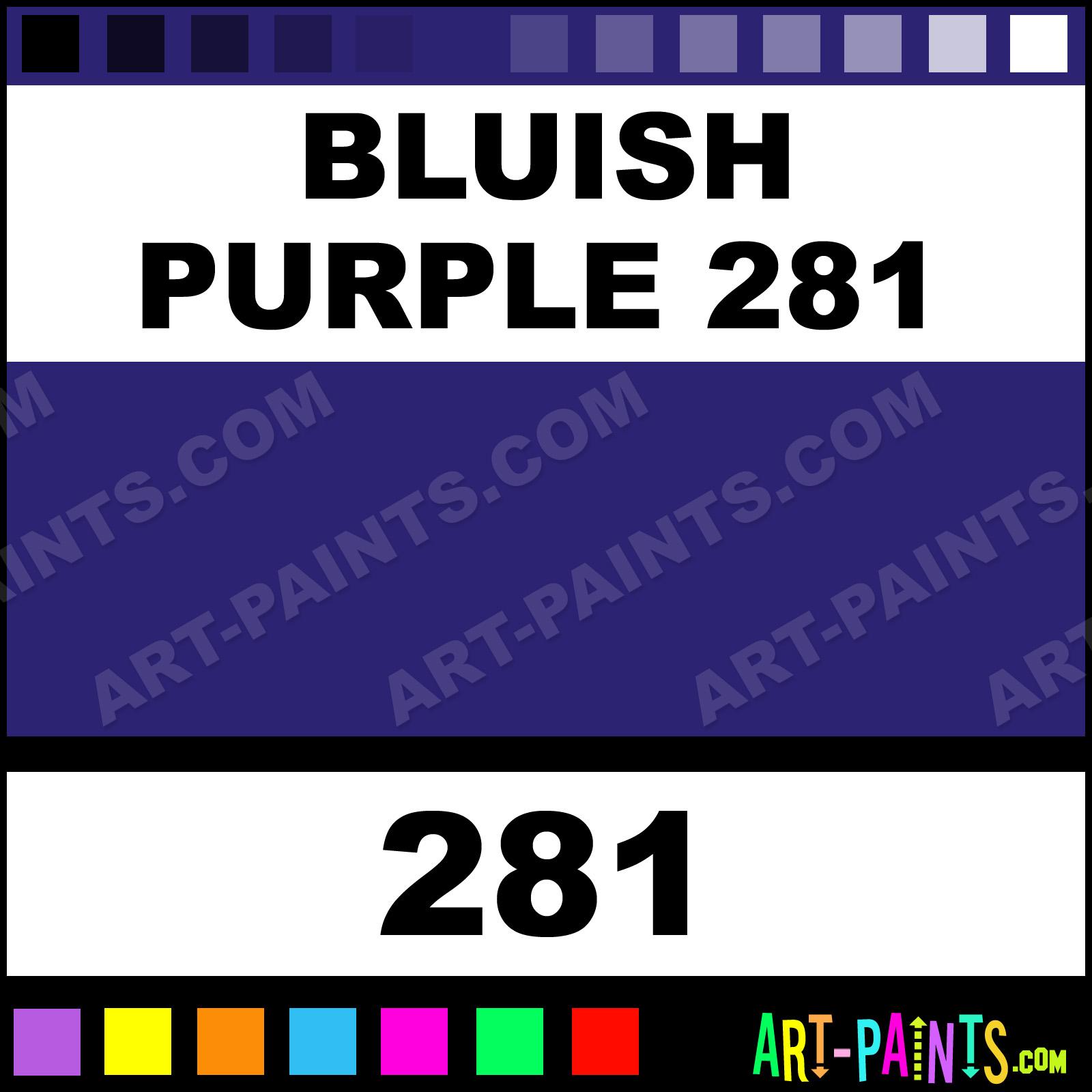 Girault Flower And Fruit Paints Bluish Purple
