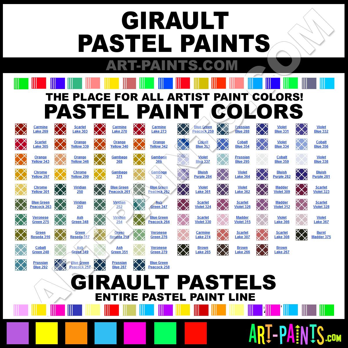 Paint Colors And Brands: Girault Paint Brands, Pastel