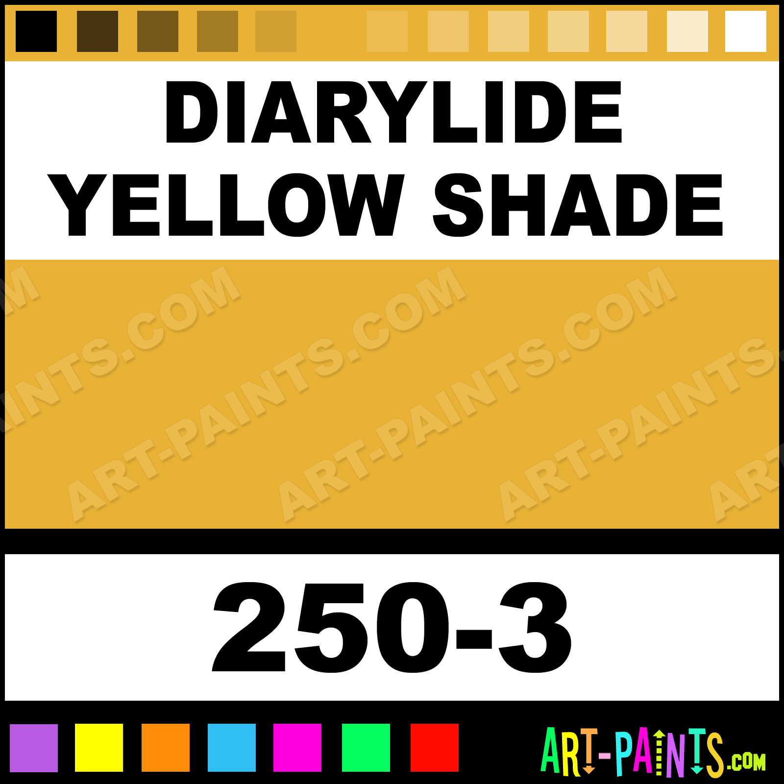 diarylide yellow shade soft pastel paints - 250-3 - diarylide
