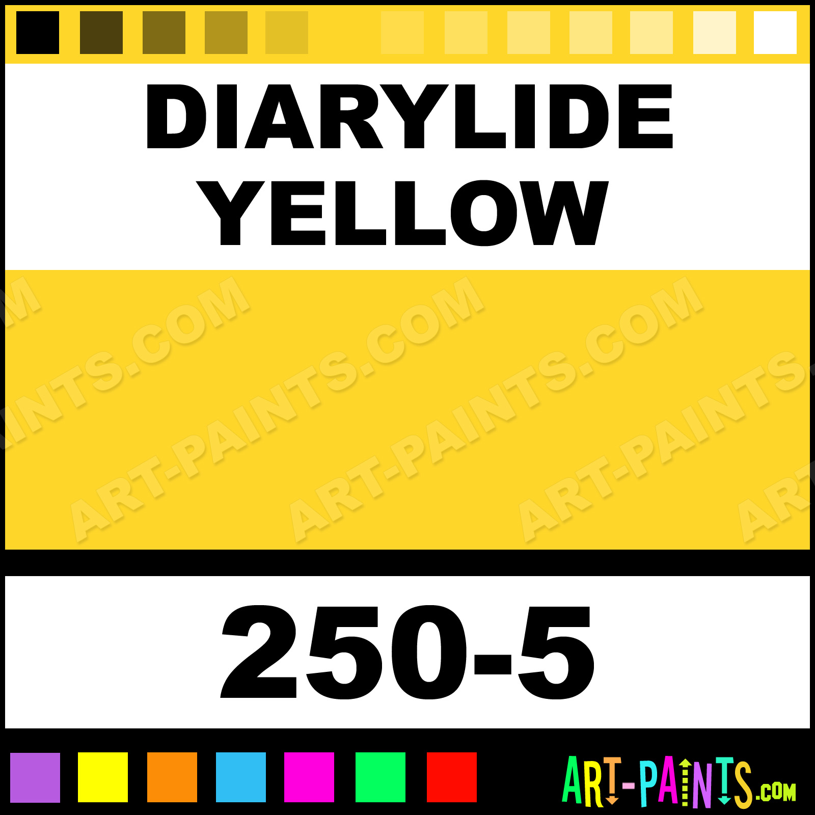 Diarylide Yellow Soft Pastel Paints 250 5 Diarylide