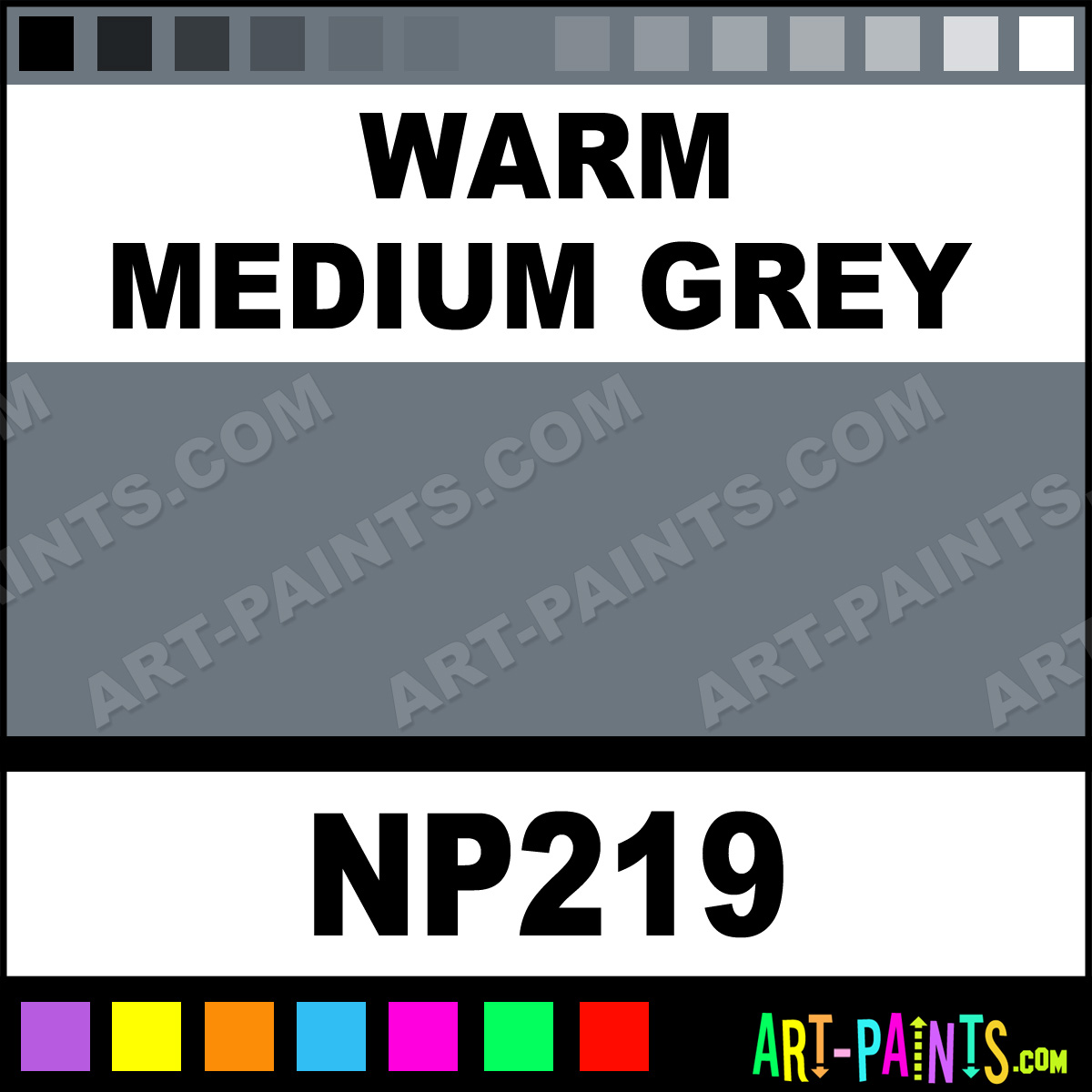 Warm Medium Grey Nupastel 48 Set Pastel Paints Np219