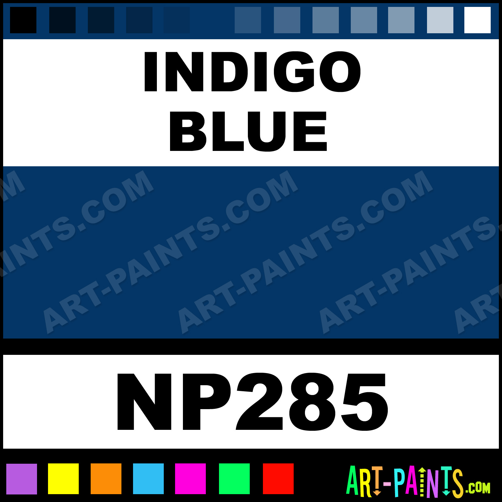 Indigo Blue Nupastel 60 Set Pastel Paints - NP285 - Indigo ...
