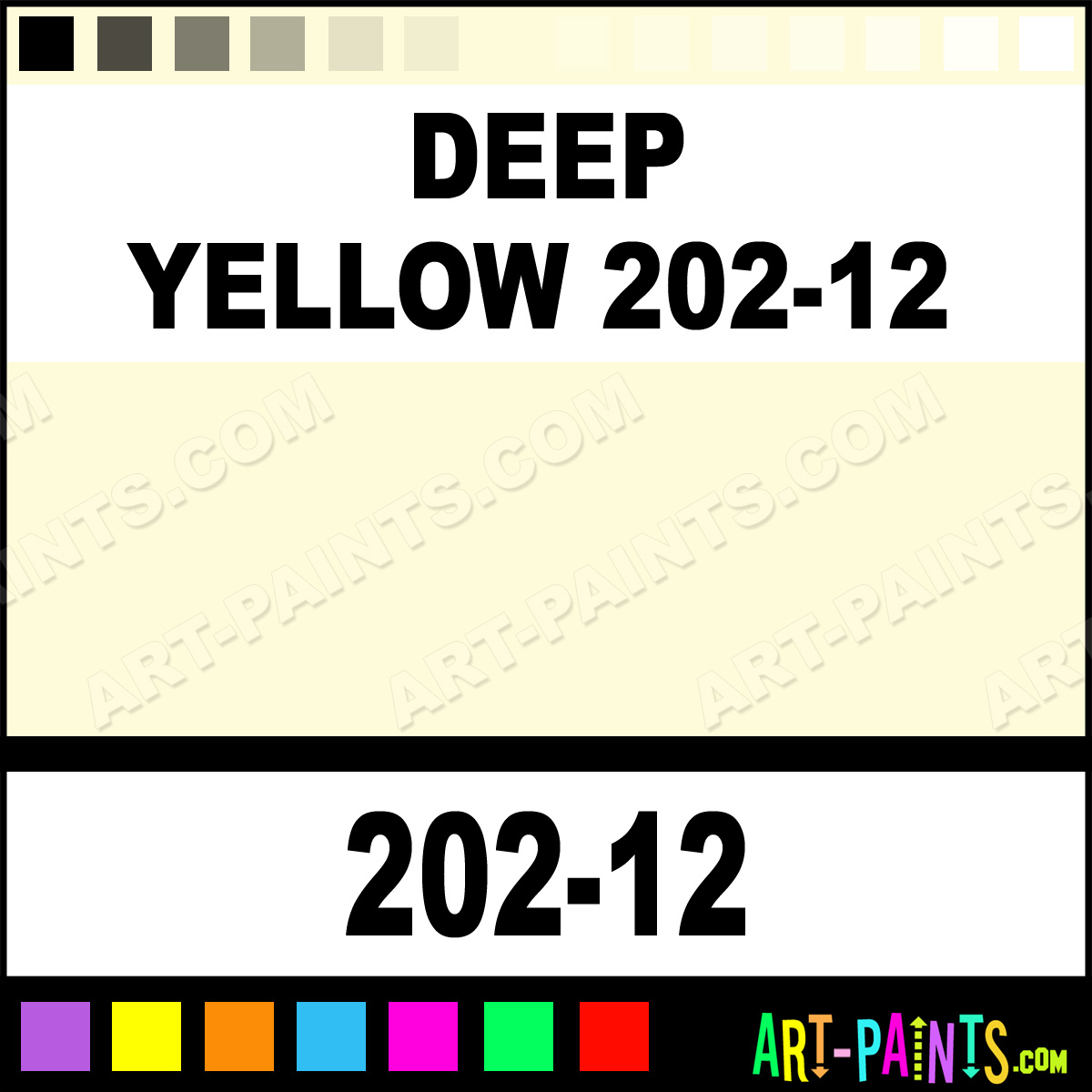 Deep Yellow 202 12 Soft Pastel Paints 202 12 Deep