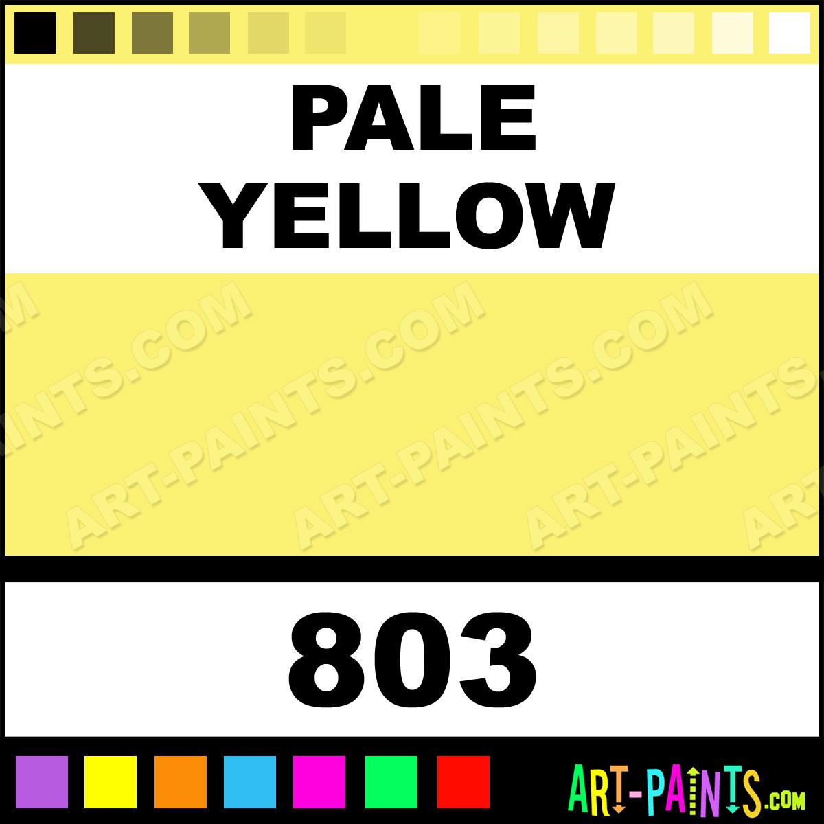 Pale Yellow Iridescent Soft Pastel Paints 803 Pale