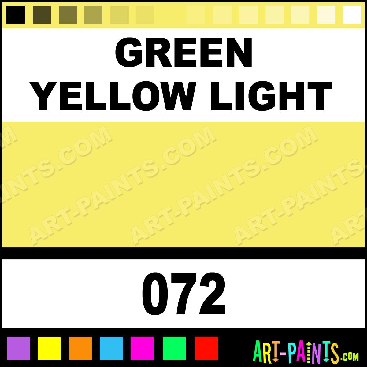 Green yellow light oil pastel paints 072 green yellow Light pastel green paint