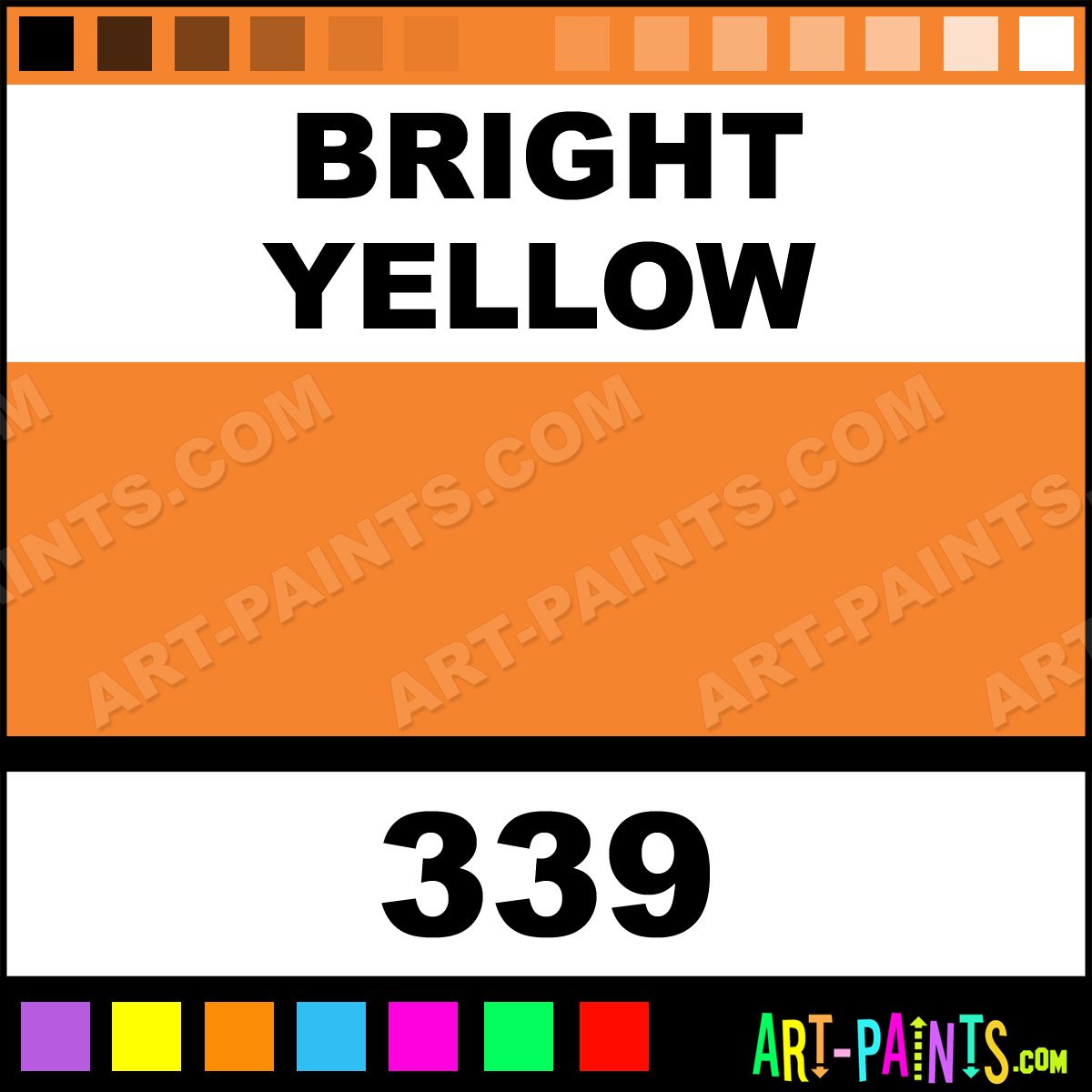 Bright Yellow Soft Pastel Paints 339 Bright Yellow