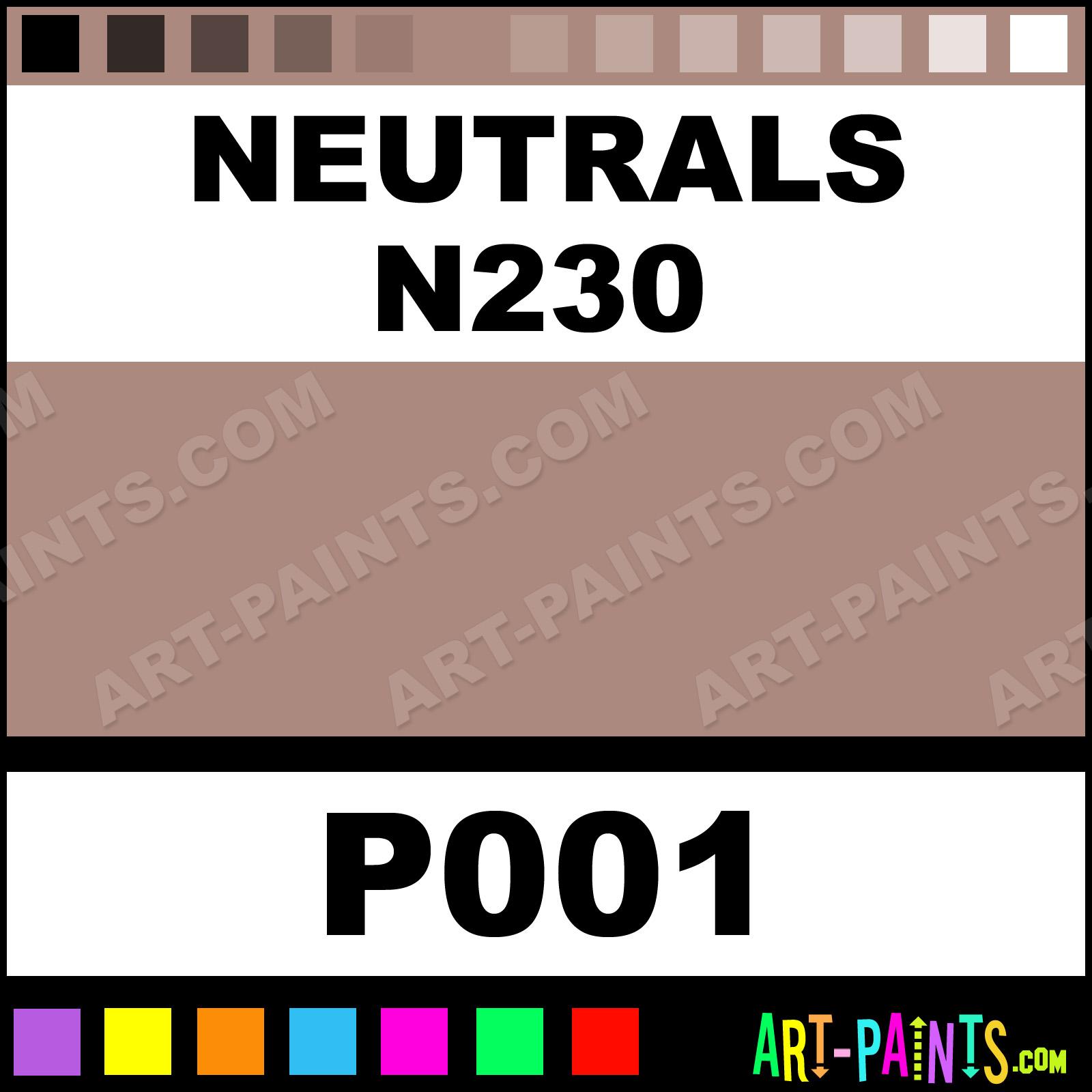 Neutrals N230 Portrait Pastel Paints - P001 - Neutrals ...