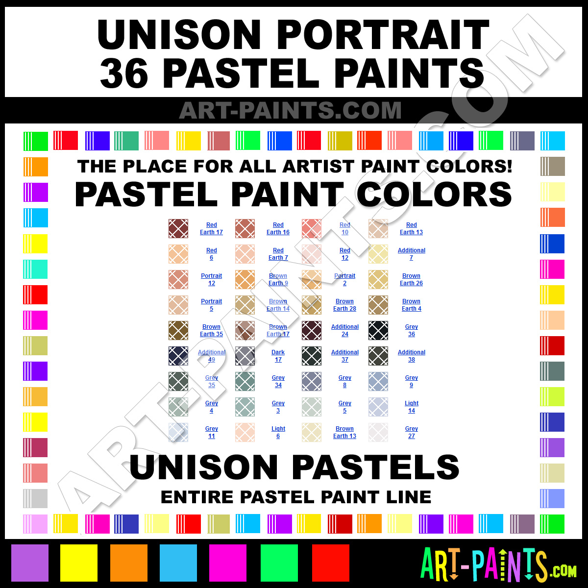 11 Pastel Paint Colors: Unison Portrait Paint Colors, Portrait Color, Portrait