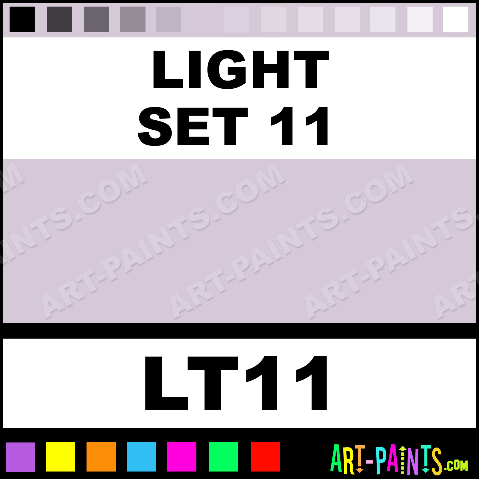11 Pastel Paint Colors: Light Set 11 Paint, Light Set 11 Color, Unison Soft