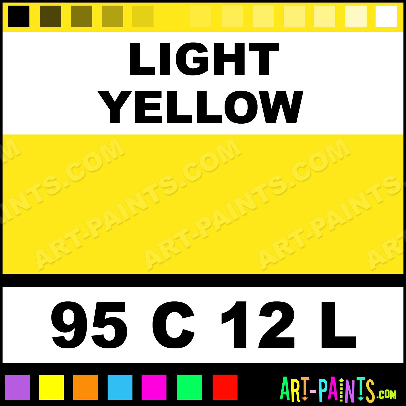 Light Yellow Oil 12 L Set Pastel Paints 95 C 12 L