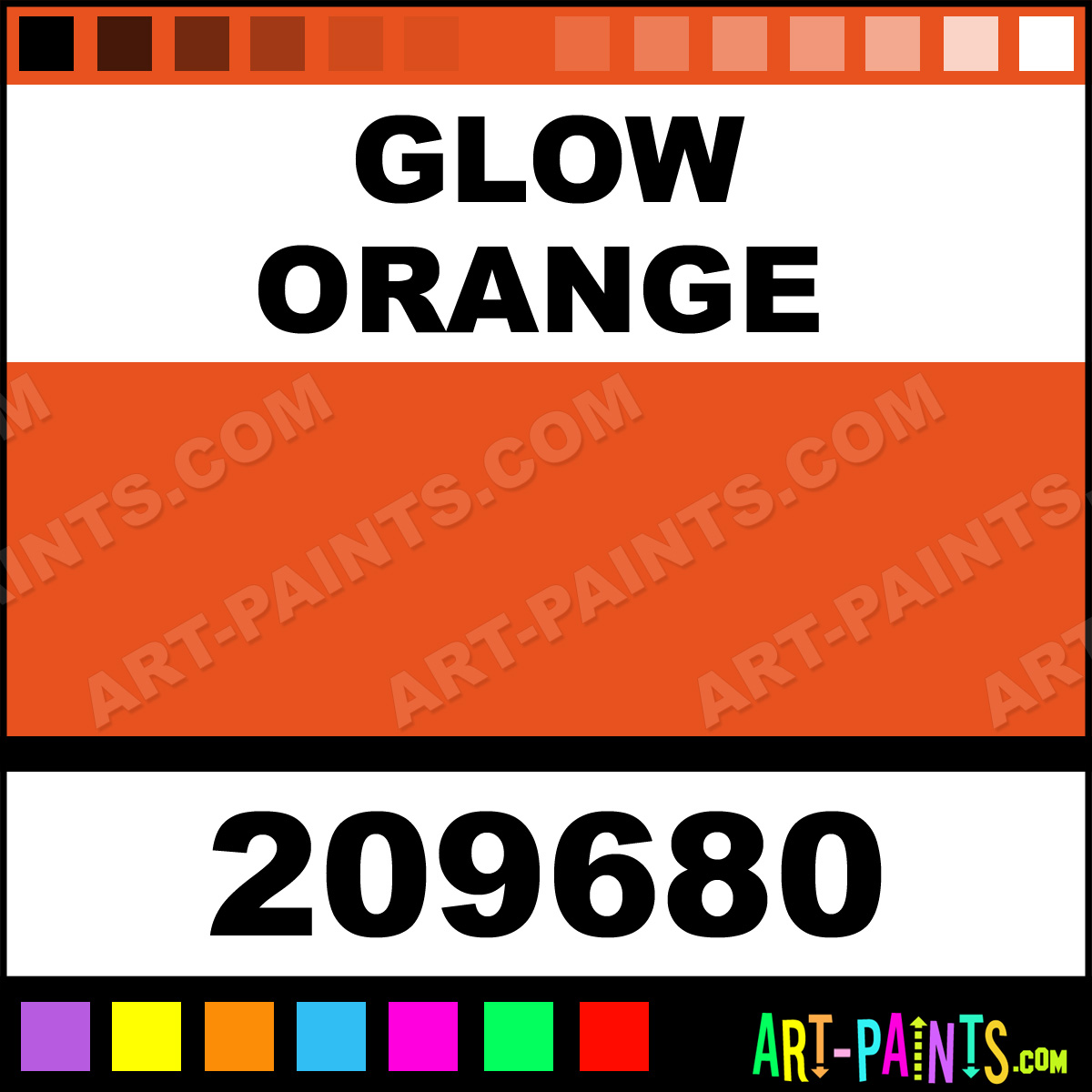 glow orange craft and hobby spray paints 209680 glow orange paint. Black Bedroom Furniture Sets. Home Design Ideas