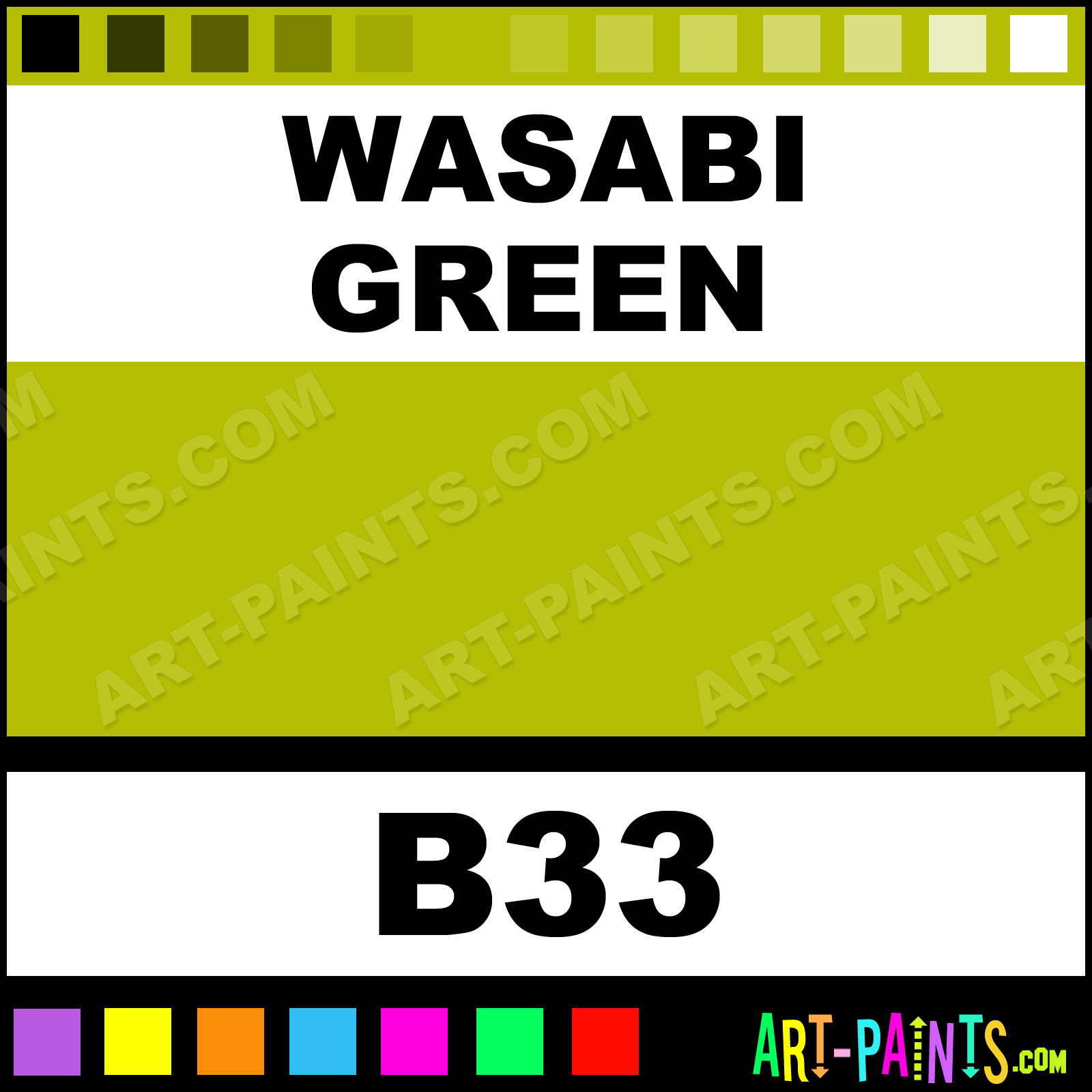 Wasabi Green Paint
