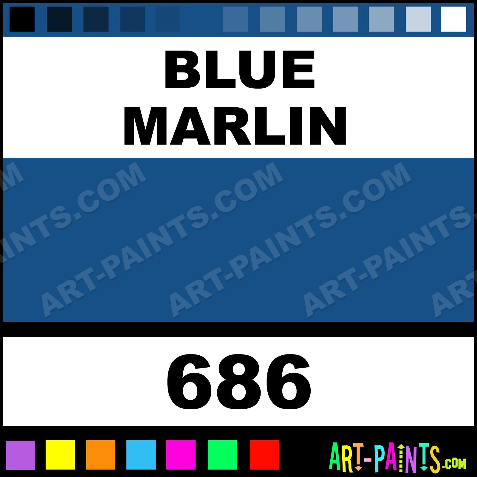 Blue Marlin Paintings Blue Marlin