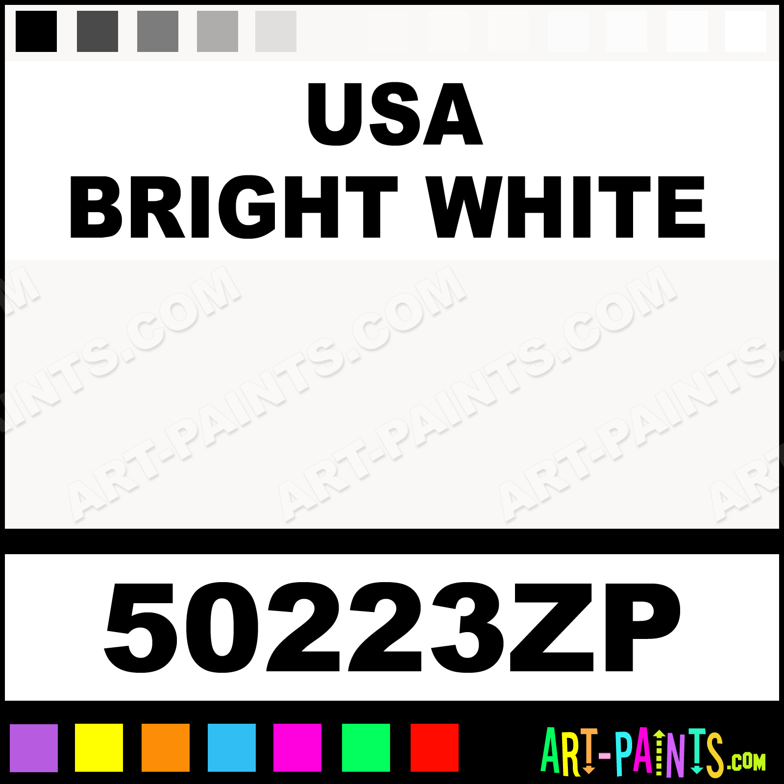 Usa Bright White Factory Match Spray Paints - Aerosol