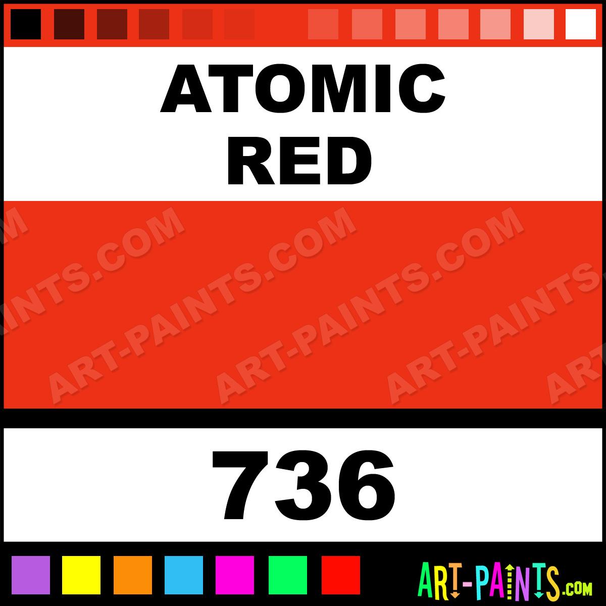 Coral Paint Color Chart Atomic Red Permanent Spray Paints Aerosol Decorative Paints