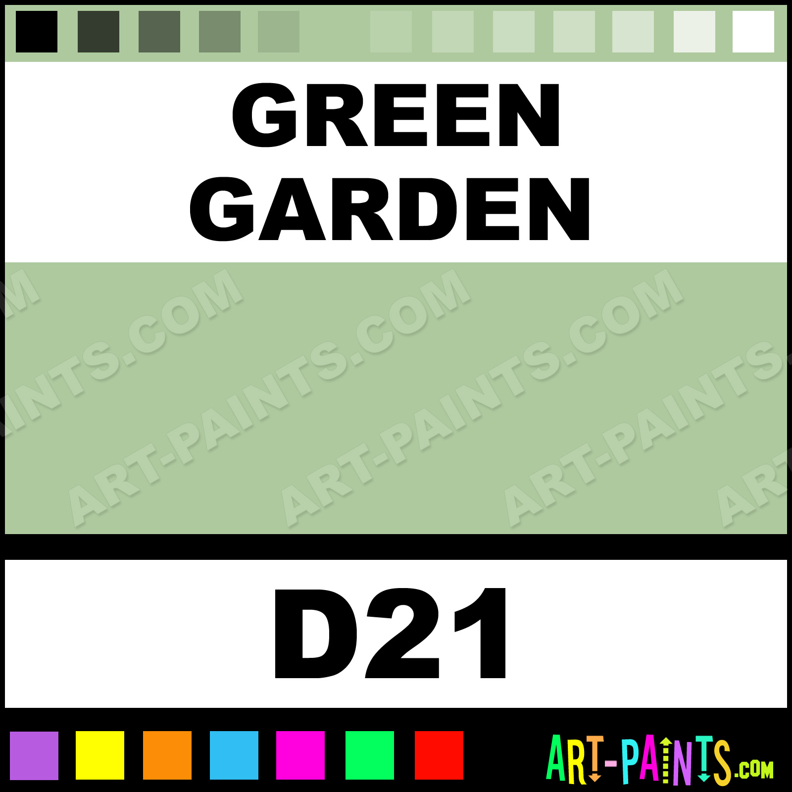 green garden casual colors spray paints aerosol