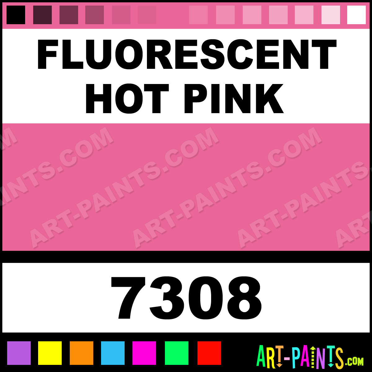 Fluorescent Pink Metal Paint