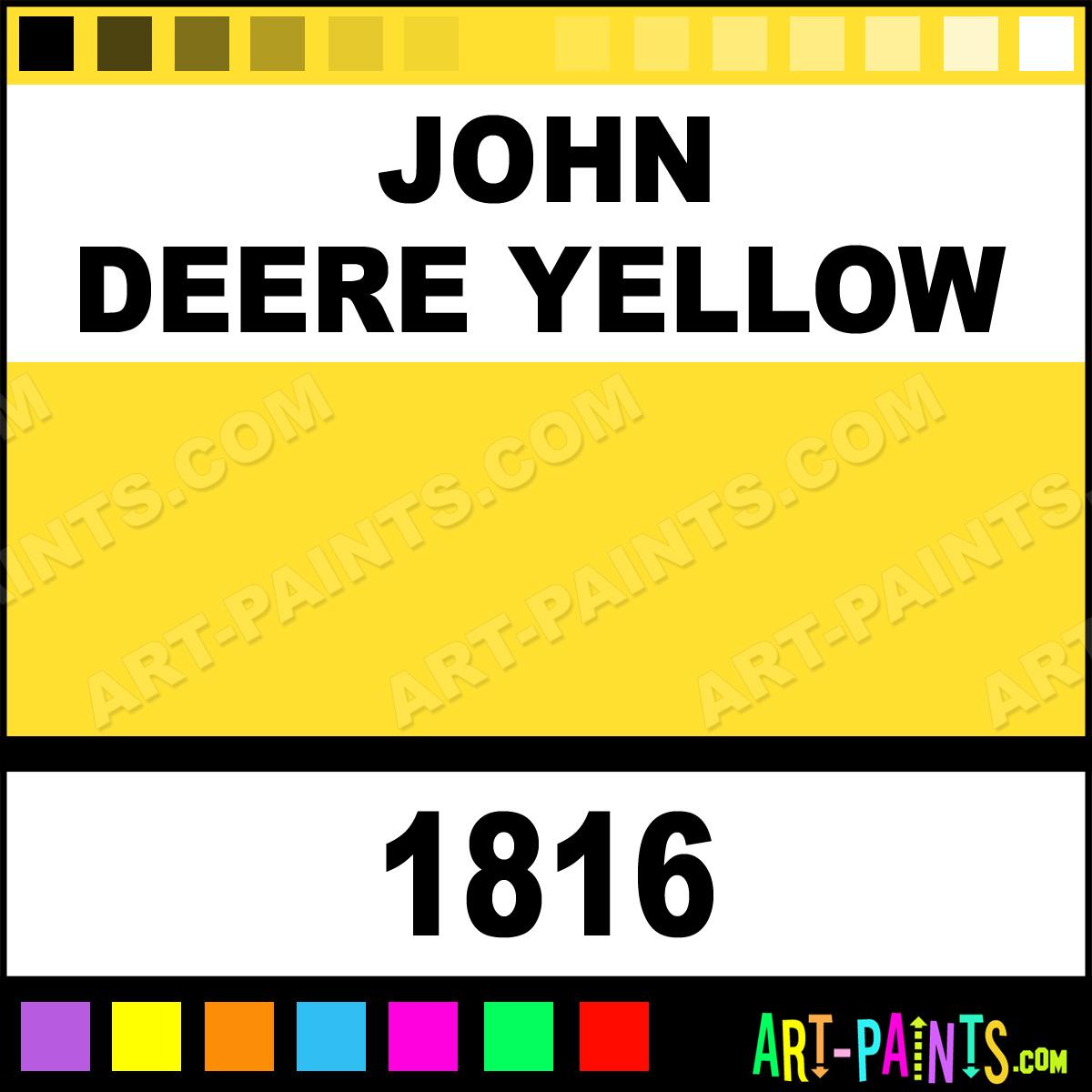 spray paints 1816 john deere yellow paint john deere yellow. Black Bedroom Furniture Sets. Home Design Ideas
