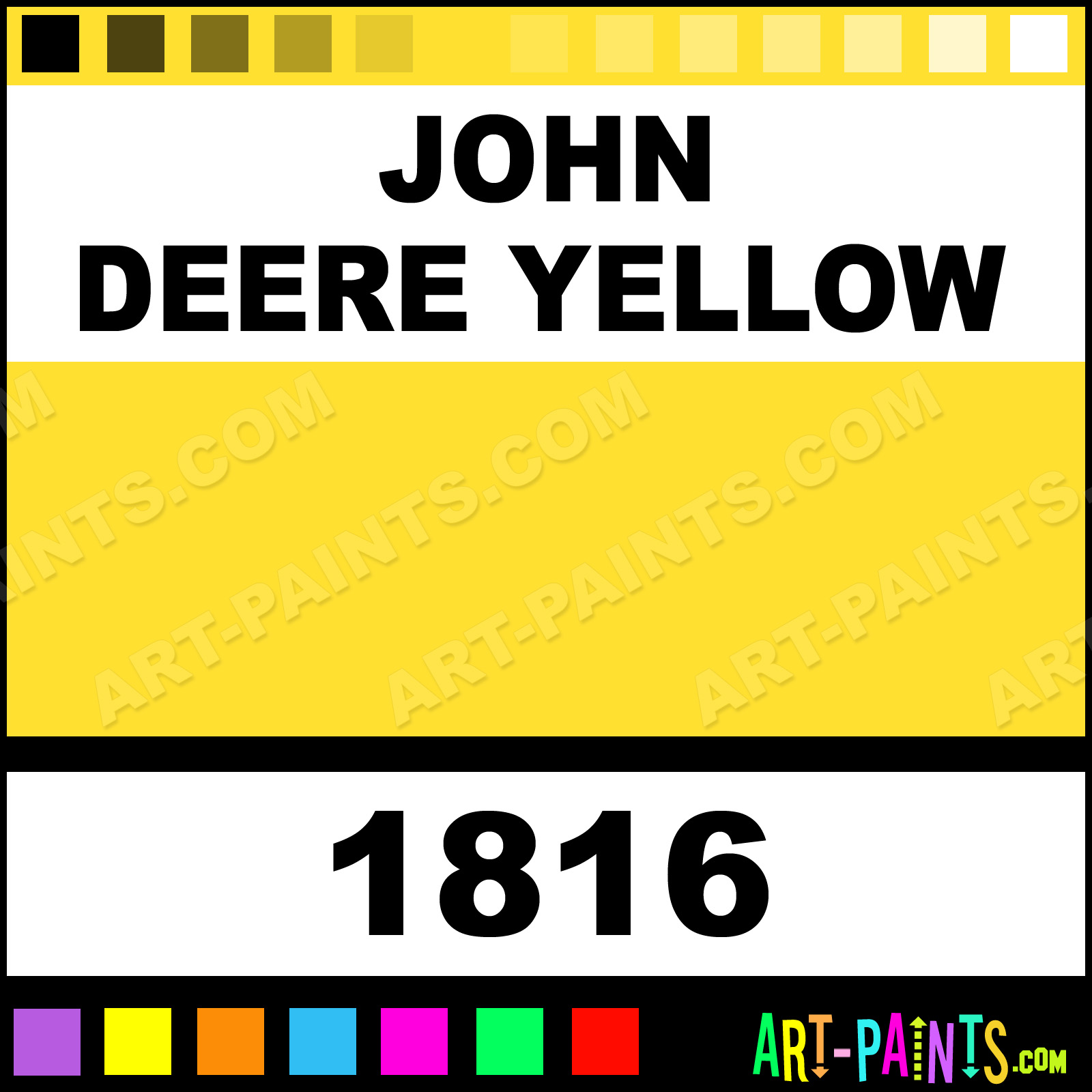 John Deere Room Paint Colors http://www.art-paints.com/Paints/Spray/Krylon/Farm-and-Implement/John-Deere-Yellow/John-Deere-Yellow.html