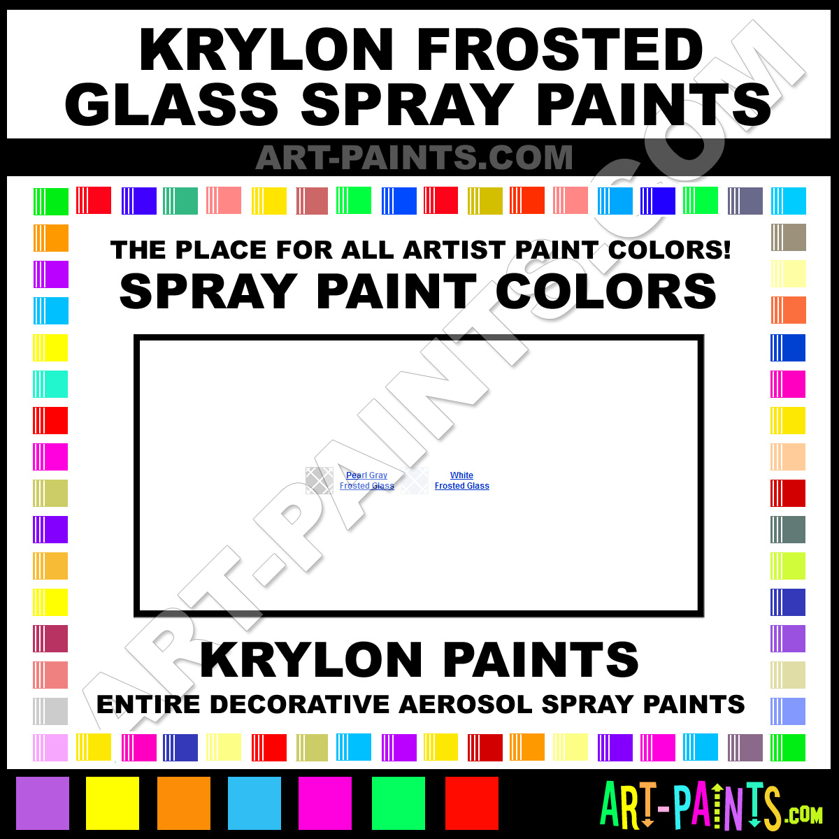 Krylon Frosted Glass Spray Paint Aerosol Colors Krylon Frosted Glass Paint Decorative Colors