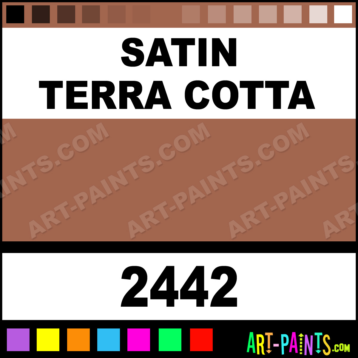satin terra cotta fusion for plastic spray paints 2442. Black Bedroom Furniture Sets. Home Design Ideas
