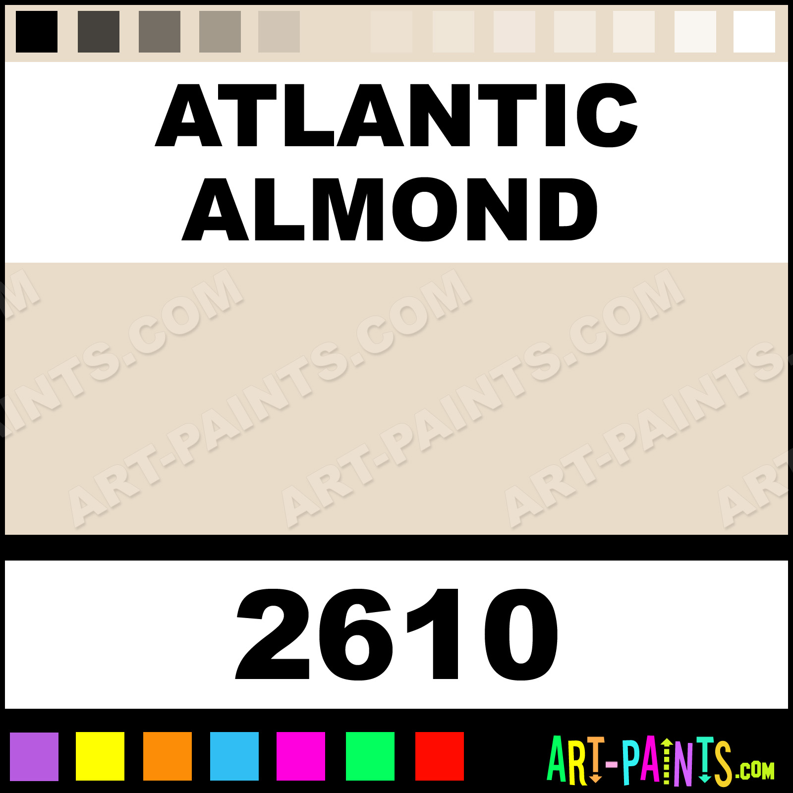 atlantic almond h2o latex spray paints 2610 atlantic. Black Bedroom Furniture Sets. Home Design Ideas