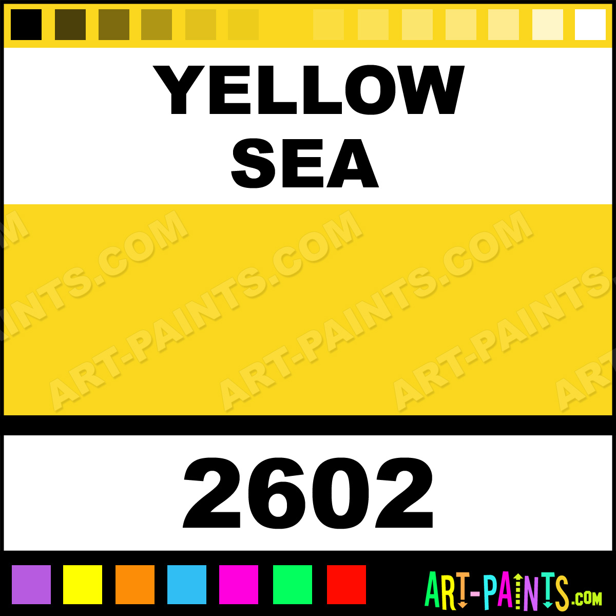 yellow sea h2o latex spray paints 2602 yellow sea. Black Bedroom Furniture Sets. Home Design Ideas
