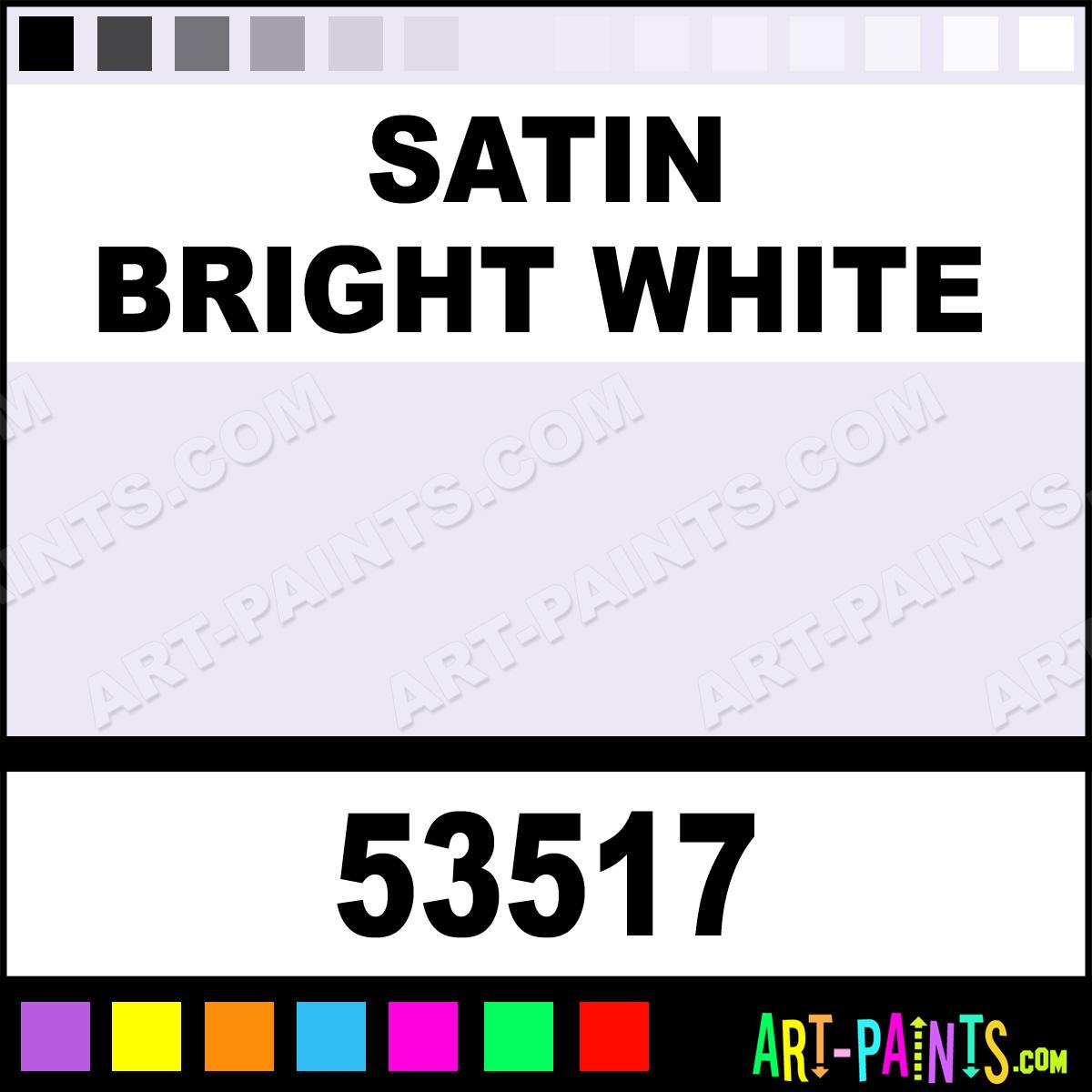 Satin Bright White Indoor Outdoor Spray Paints