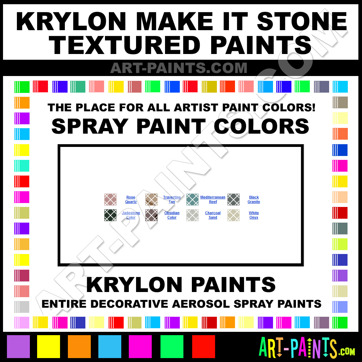 Krylon Make It Stone Textured Spray Paint Aerosol Colors