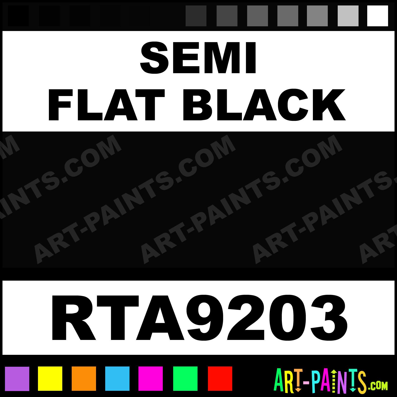 semi flat black rust tough enamel spray paints rta9203. Black Bedroom Furniture Sets. Home Design Ideas