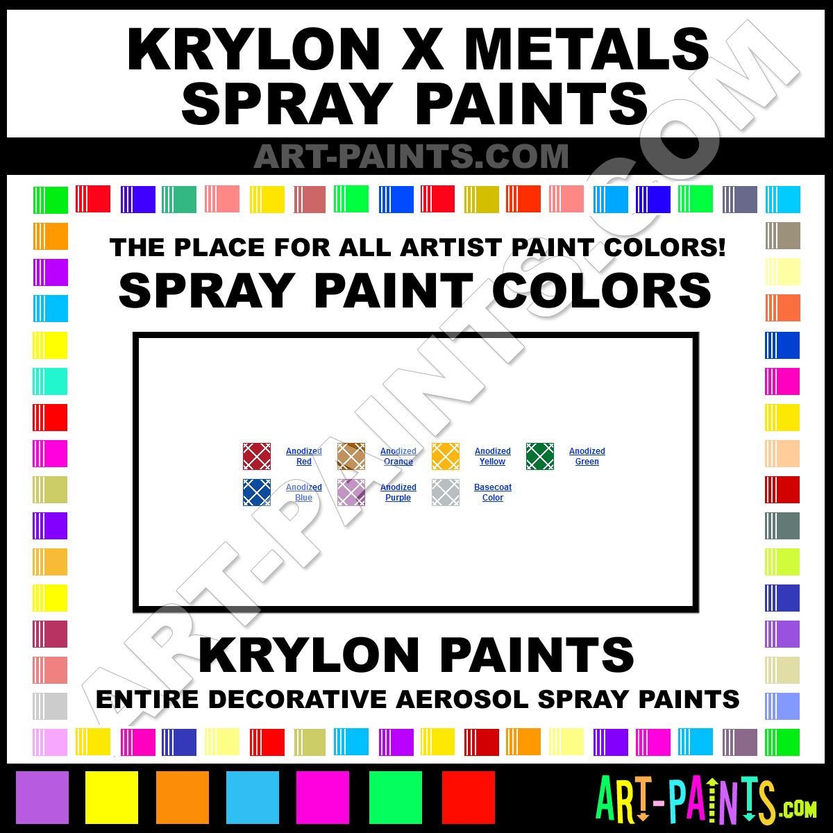 Krylon X Metals Spray Paint Aerosol Colors Krylon X Metals Paint Decorative Colors X Metals