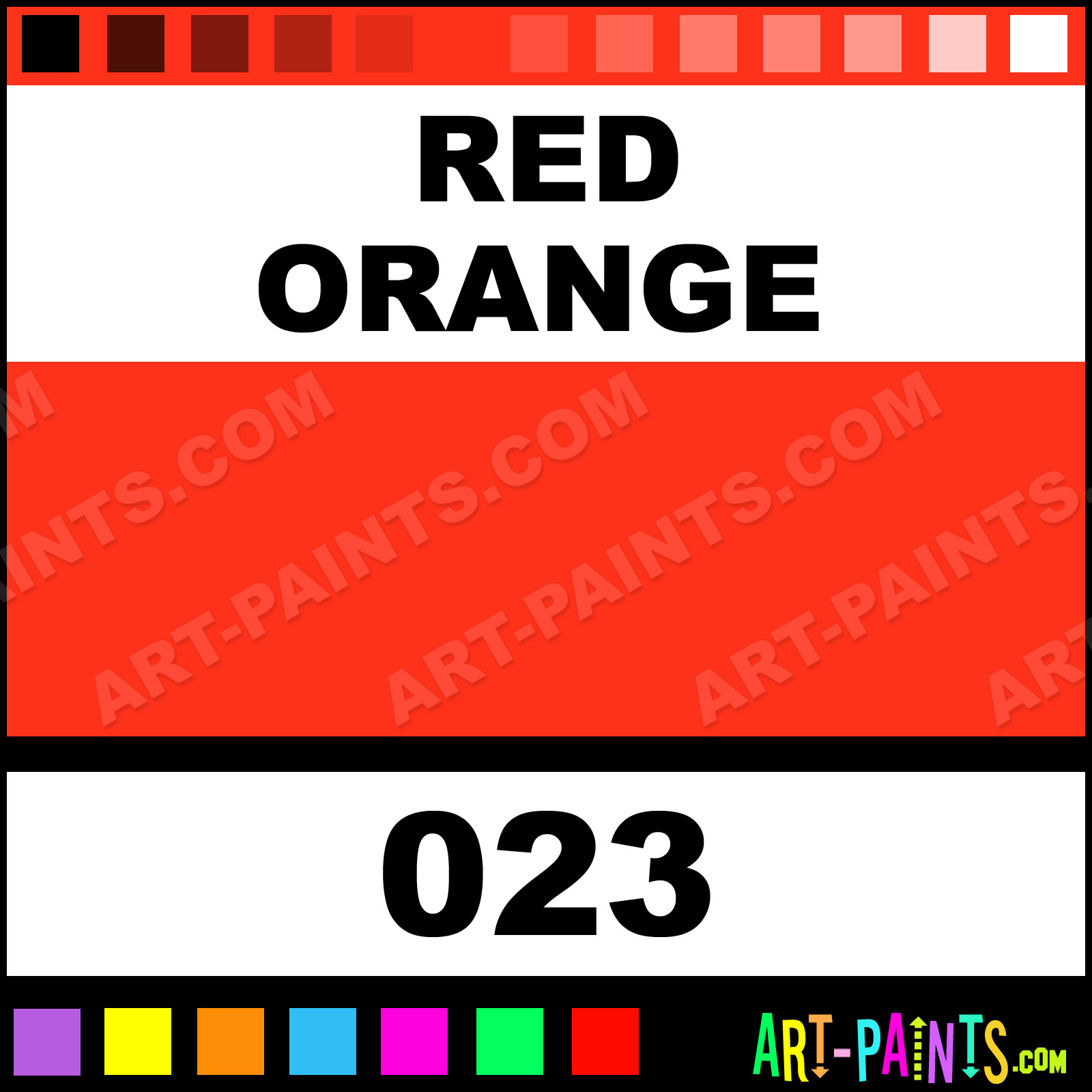 Red Orange Paint