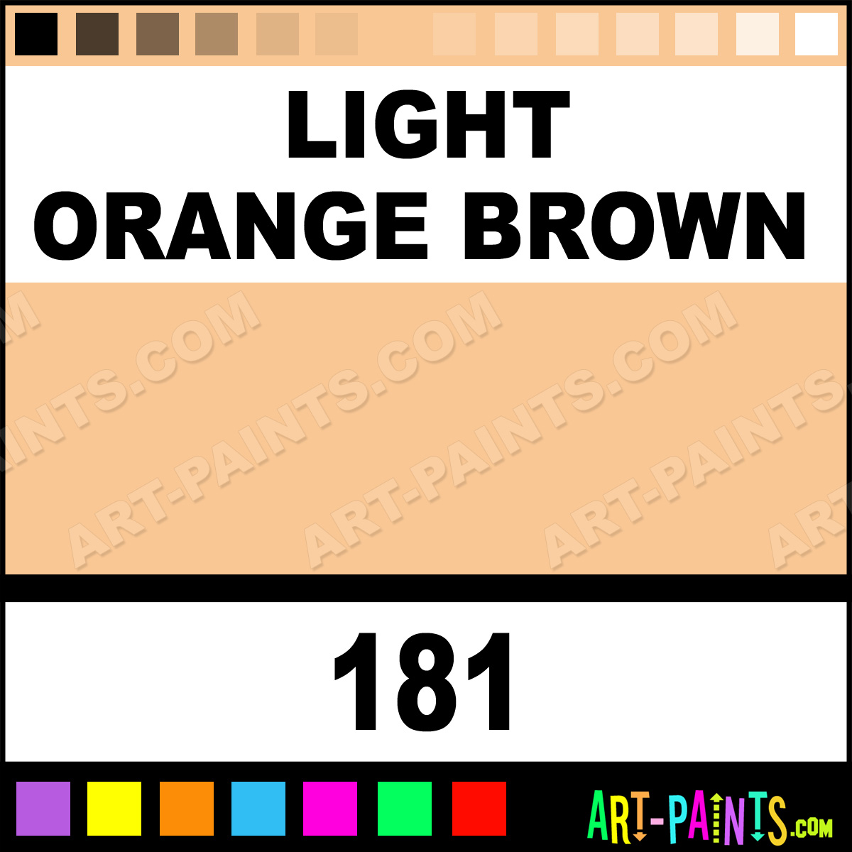 light orange brown premium spray paints 181 light